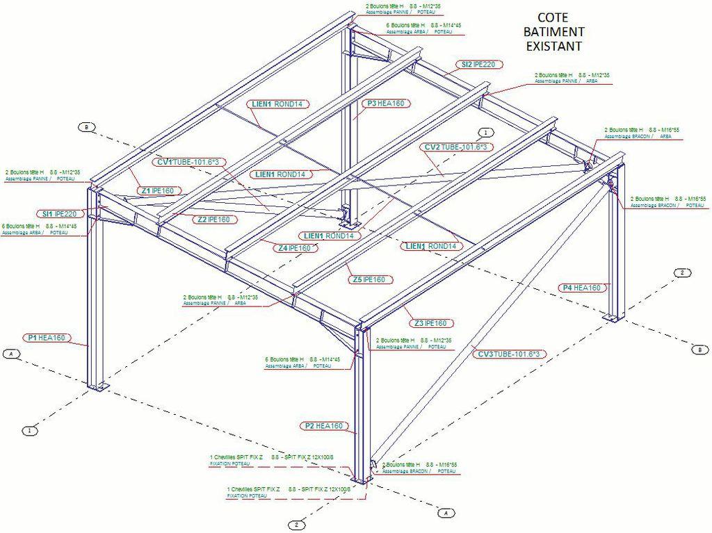 Calcul charpente m tallique logiciel de calcul charpente - Calcul d un hangar en charpente metallique ...