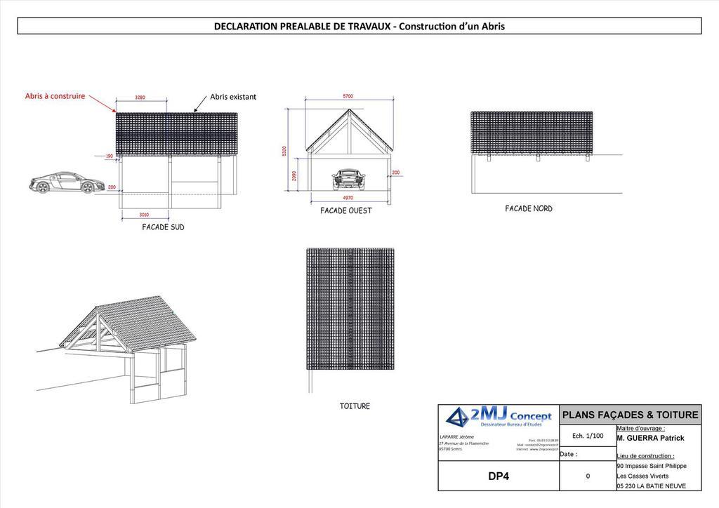 2mj concept dessinateur industriel plan permis de for Plan de batiment industriel